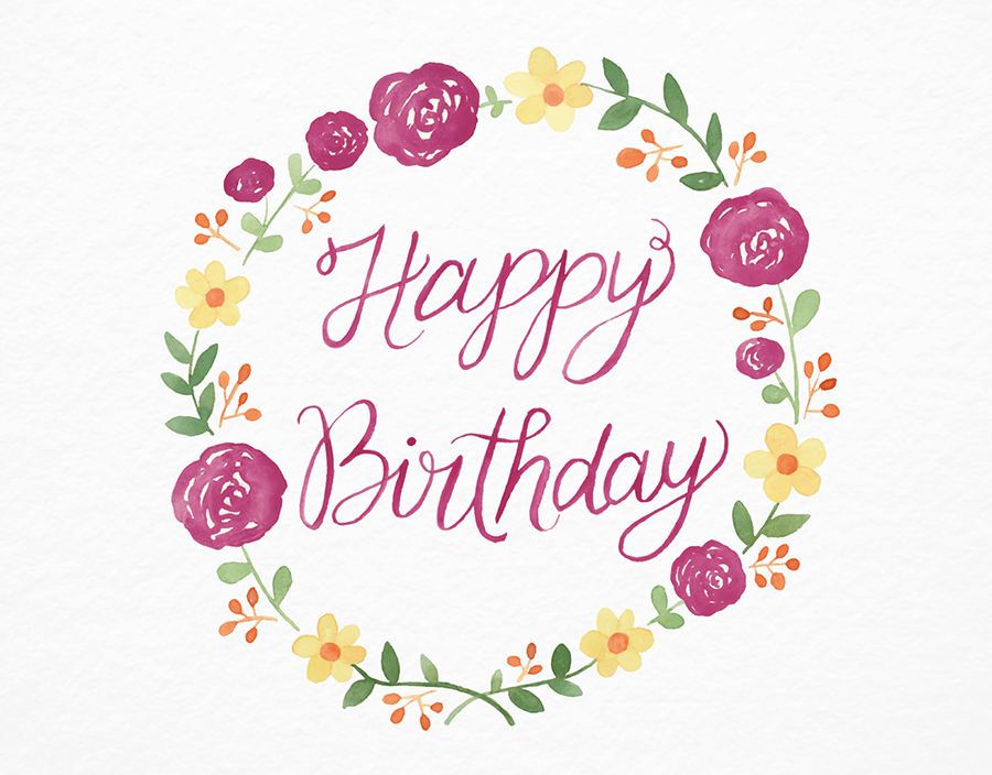 Birthday Wreath By Leveret Paperie Postable