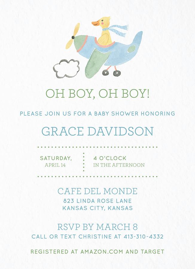 Baby Shower Duck Boy