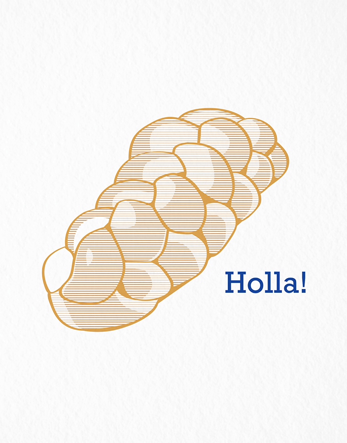 Funny Holla Jewish Card