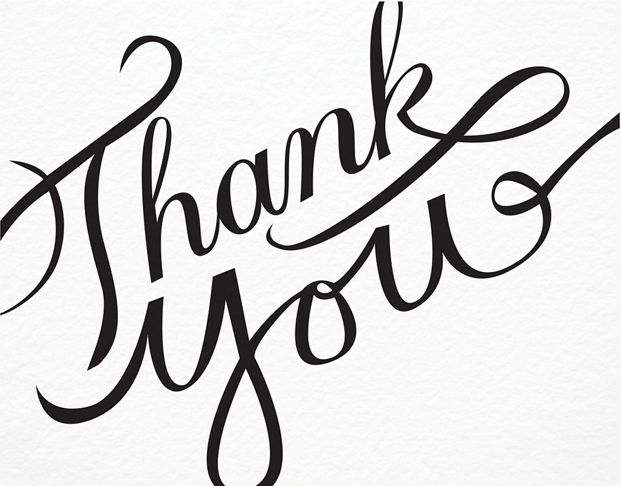 Thank you calligraphy by molly jacques postable Thank you in calligraphy writing