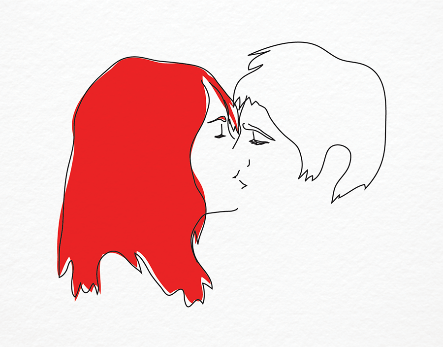 Hand Drawn Make Out Valentine Card