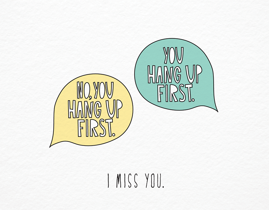 Funny modern I miss you card