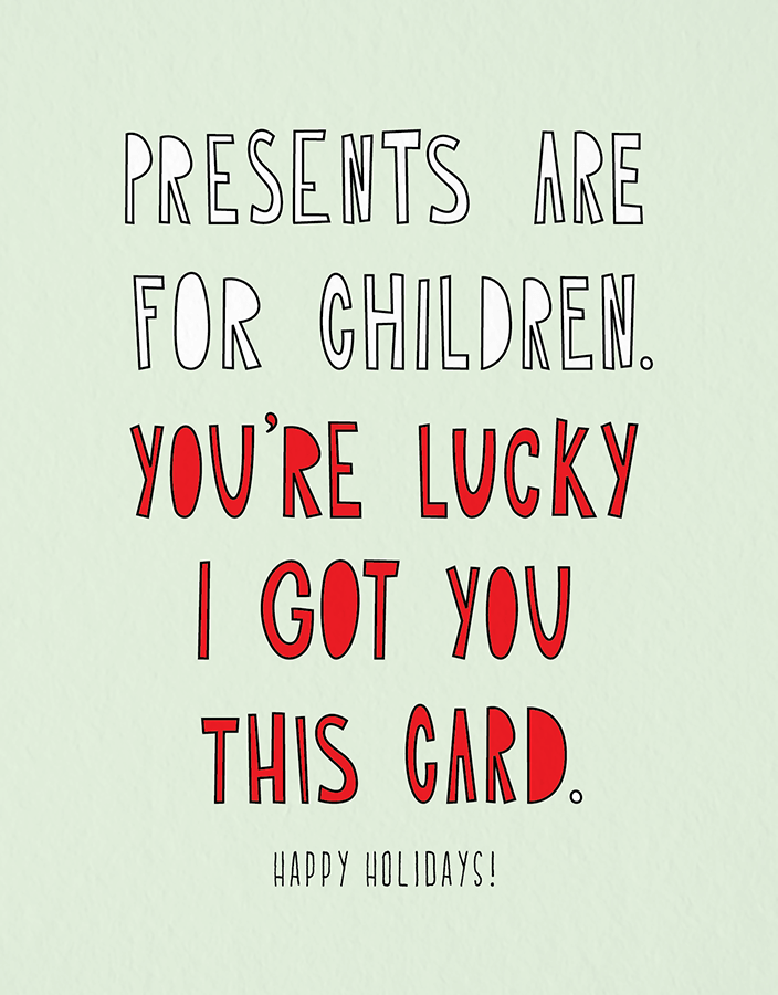 Lucky Holiday Card