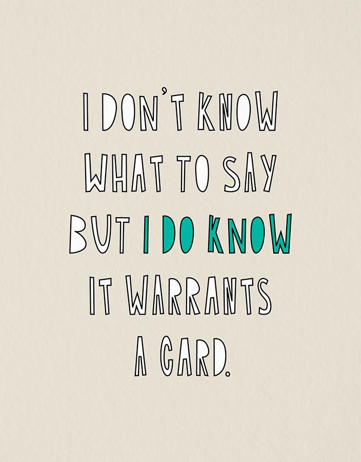 Warrants A Card