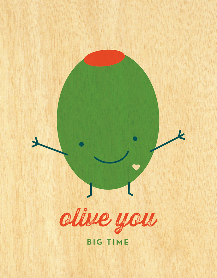 Cute Pun Olive  You Card