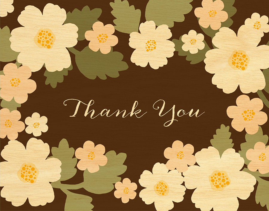 Floral Bouquet Thank You Card