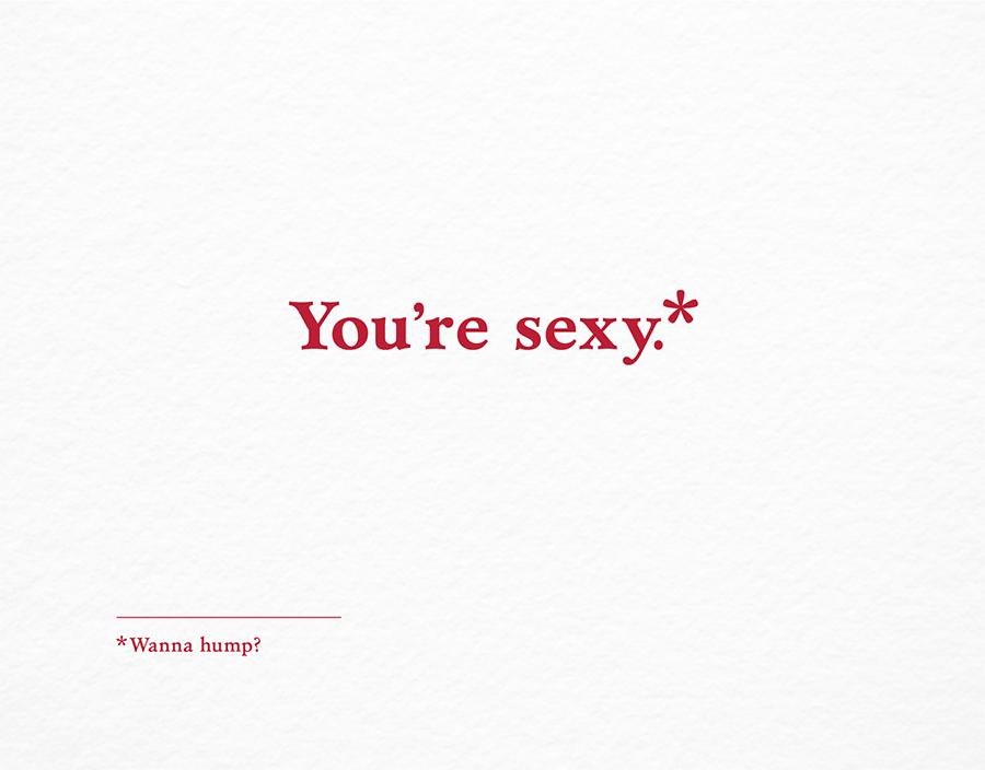 Sexy Wanna Hump Valentine Card
