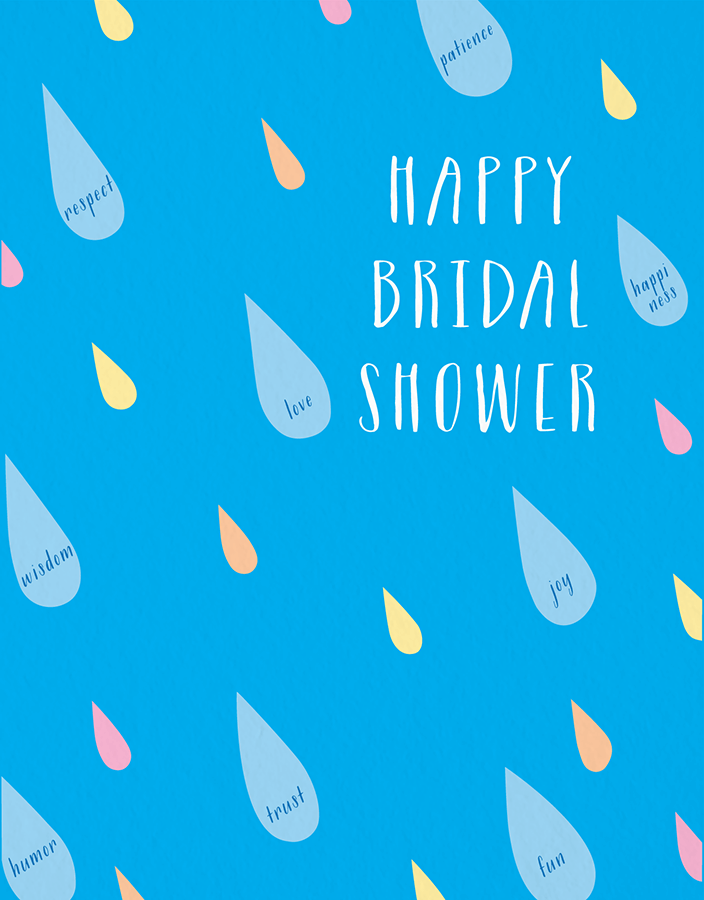 Bridal Shower Raindrops