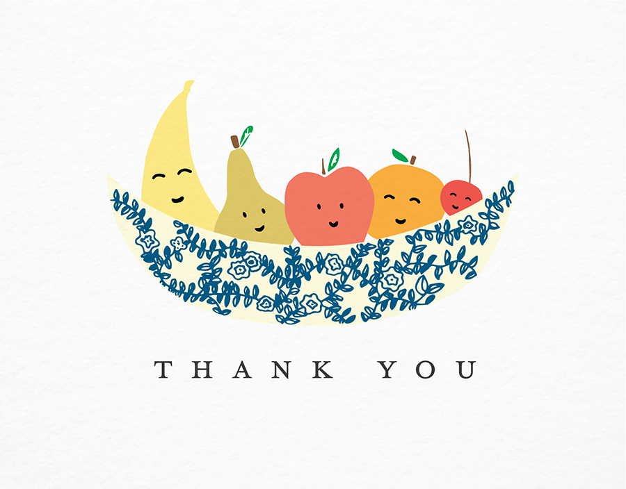 Thank You Fruit Bowl by Paula & Waffle | Postable
