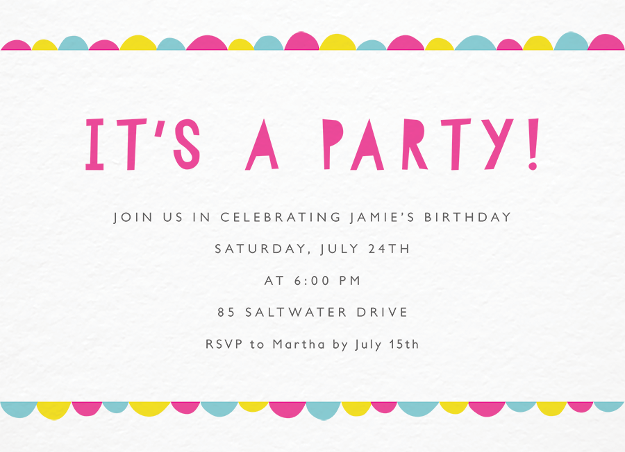 Bright Scallop Invite