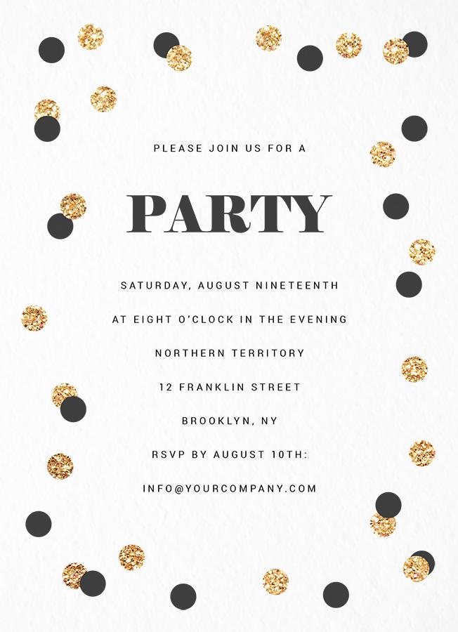 Gold Confetti Party