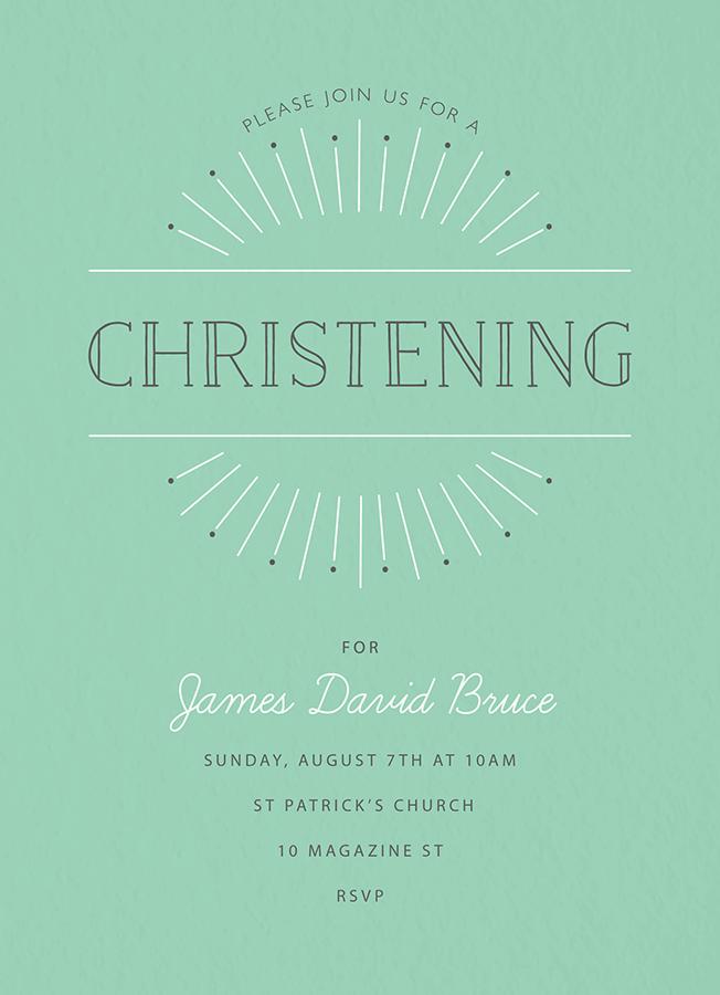 Sunrise Christening