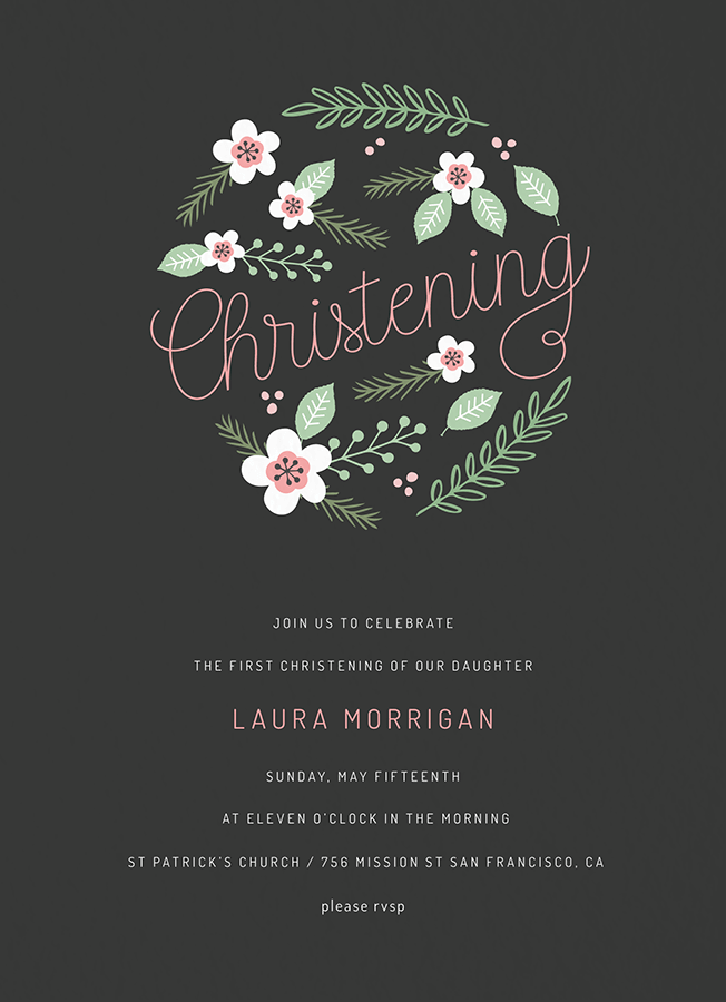 Floral Circle Christening