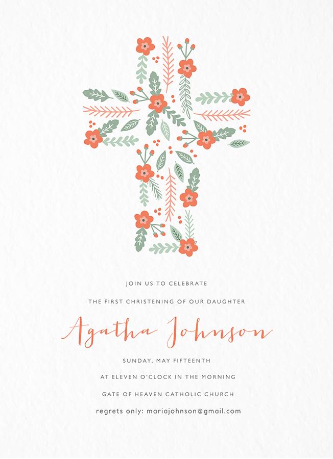 Floral Christening