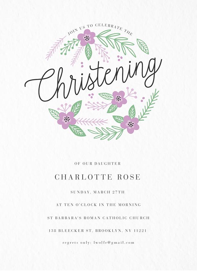 Flower Circle Christening