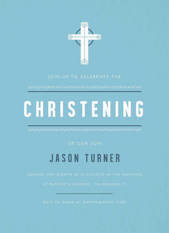 Blue Celtic Christening