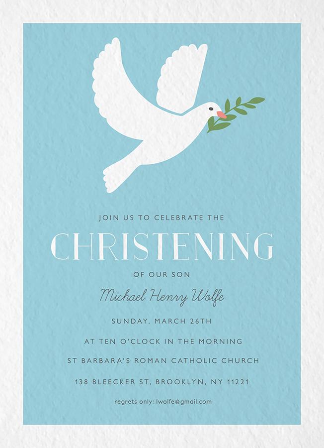 Dove Christening