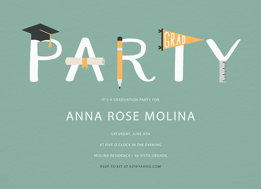Grad Party Lettering