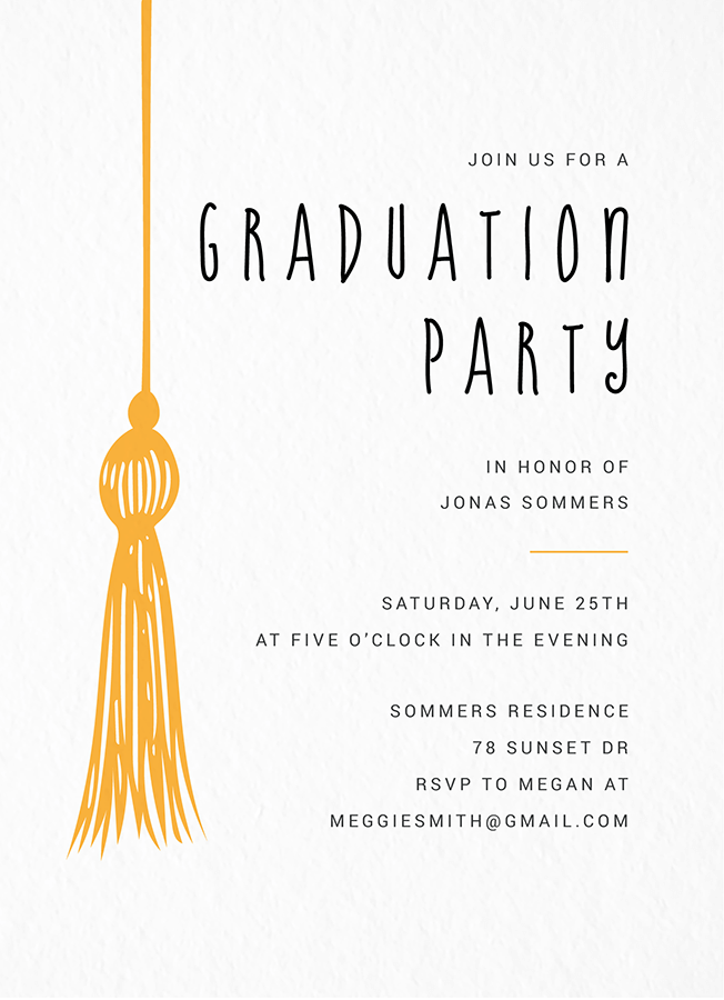 Tassel Graduation Invite