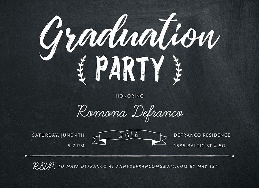 Chalkboard Horizontal Grad Party
