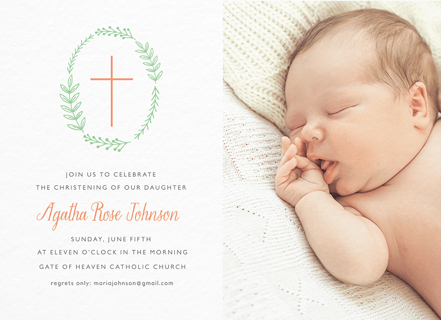 Christening Cross Photo Wreath