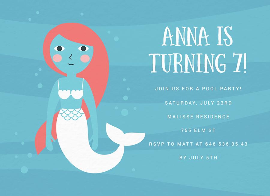 Mermaid Doll Pool Party