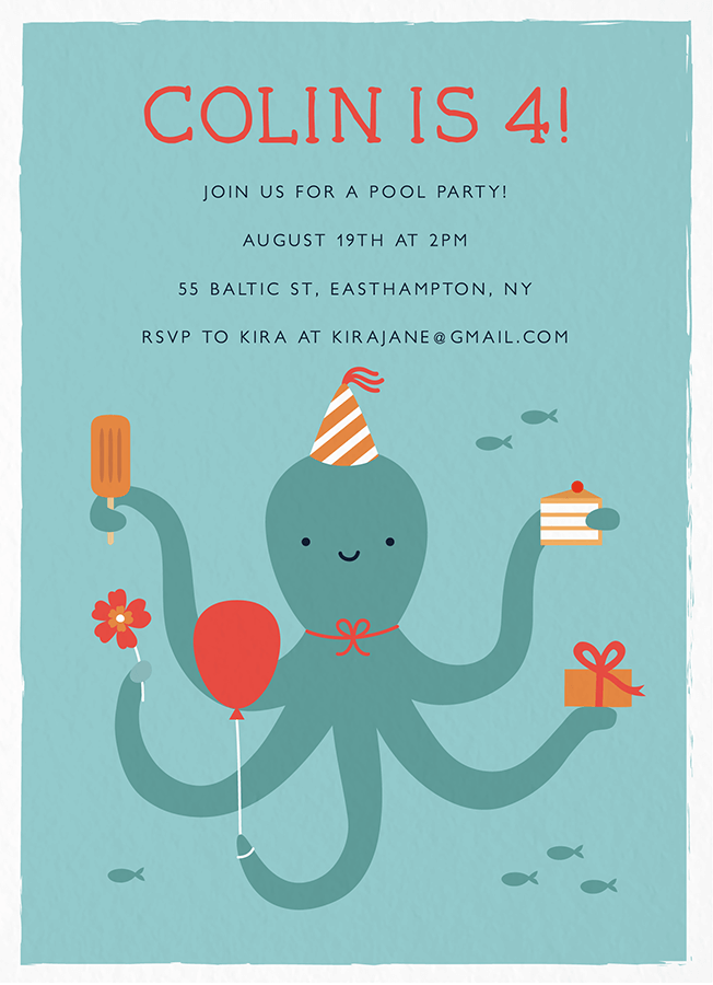 Octopus Pool Party