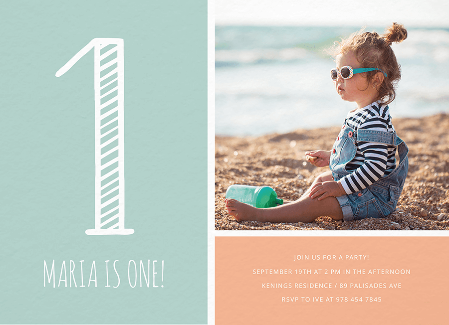 First Birthday Photo Grid