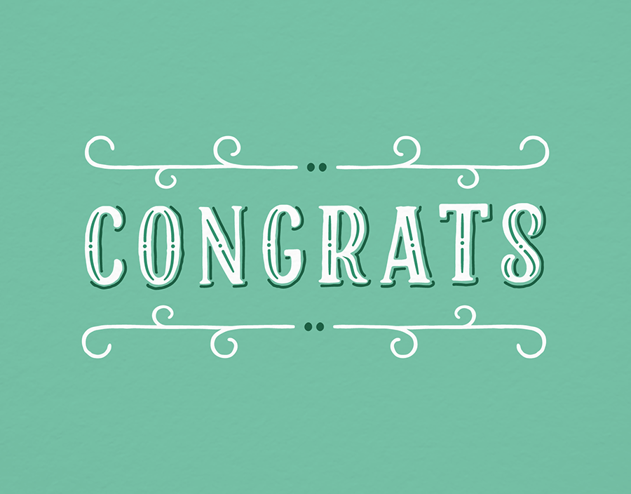 congrats vintage sign by postable postable