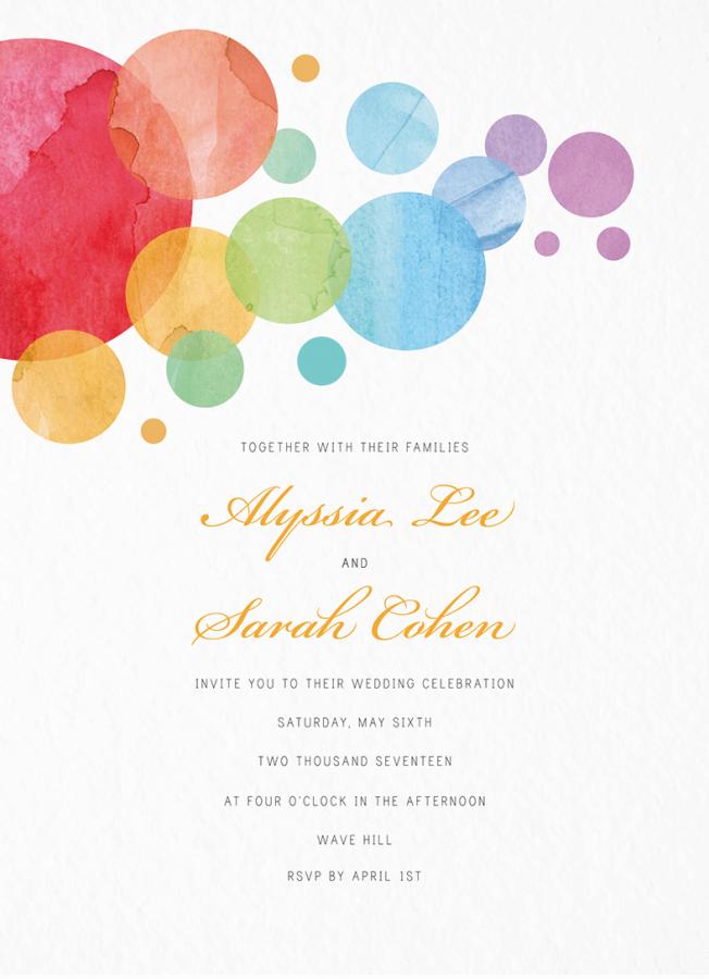 Watercolor Bubbles Wedding