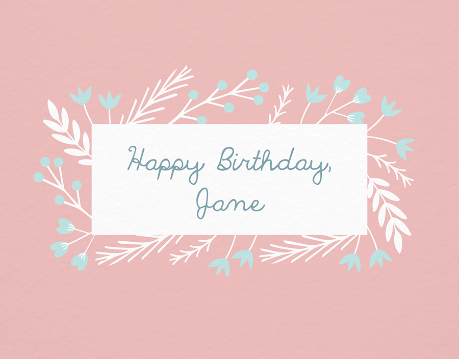 Pastel Floral Birthday