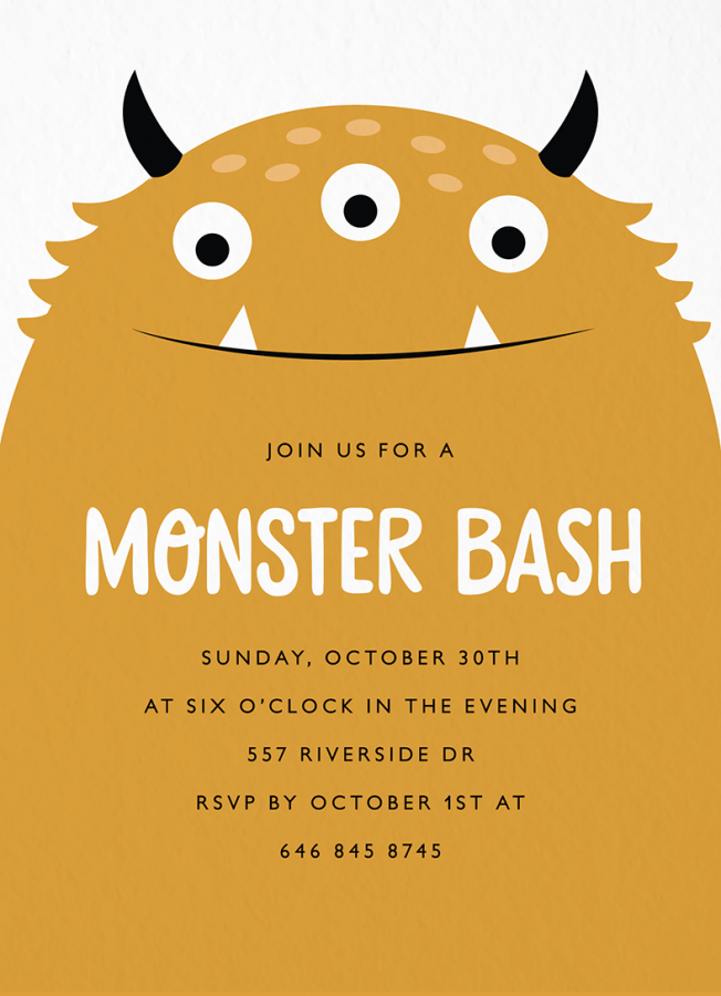 Monster Bash Halloween Party Invite