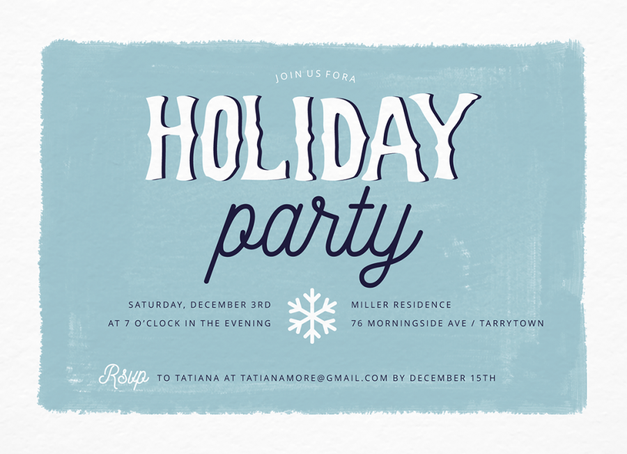 Blue Paint Holiday Party