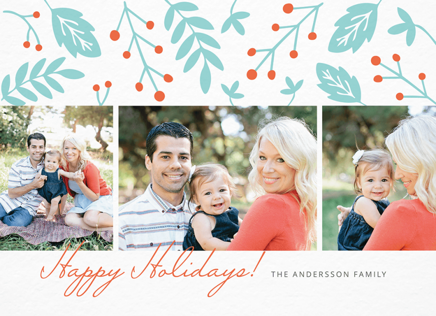 Floral Happy Holidays Multi