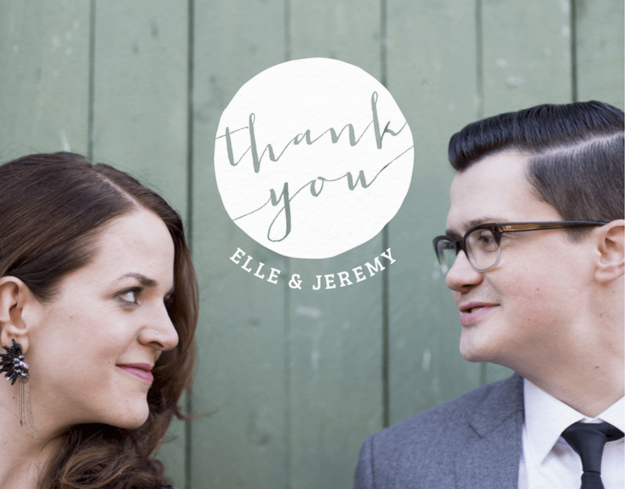Full Circle Custom Thank You Note