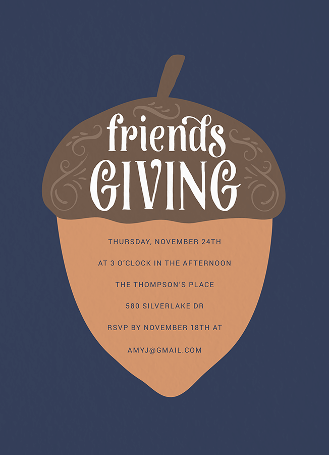 Friendsgiving Acorn Invite