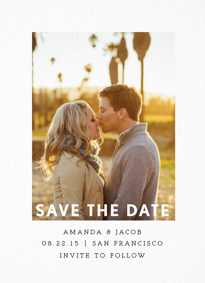 White Border Save The Date
