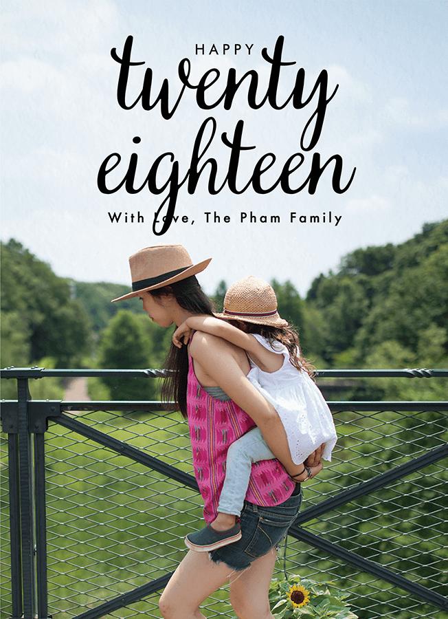 Twenty Eighteen Lettering