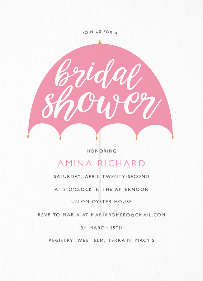 Umbrella Bridal Shower