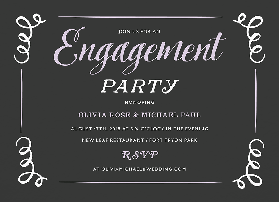 Vintage Engagement Party