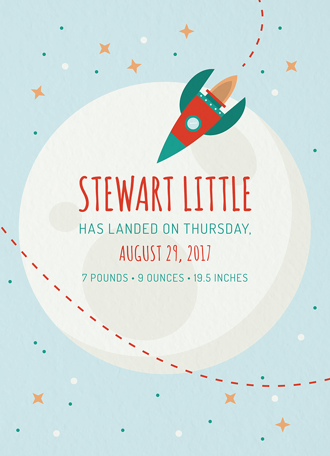 Rocket Birth Announcement
