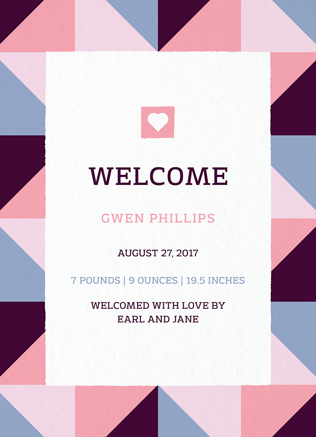 Geometric Birth Announcement