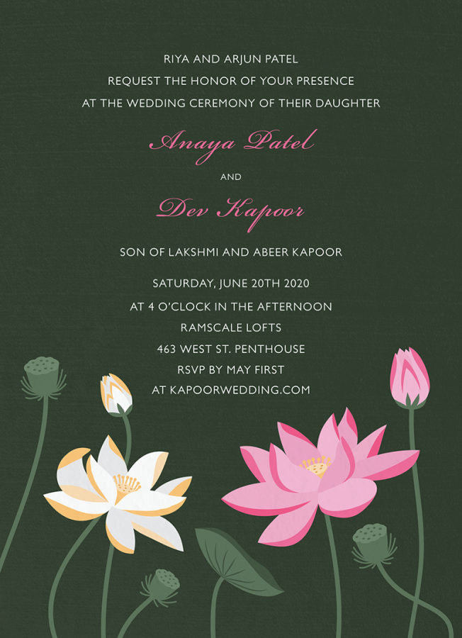 Lotus Invitation