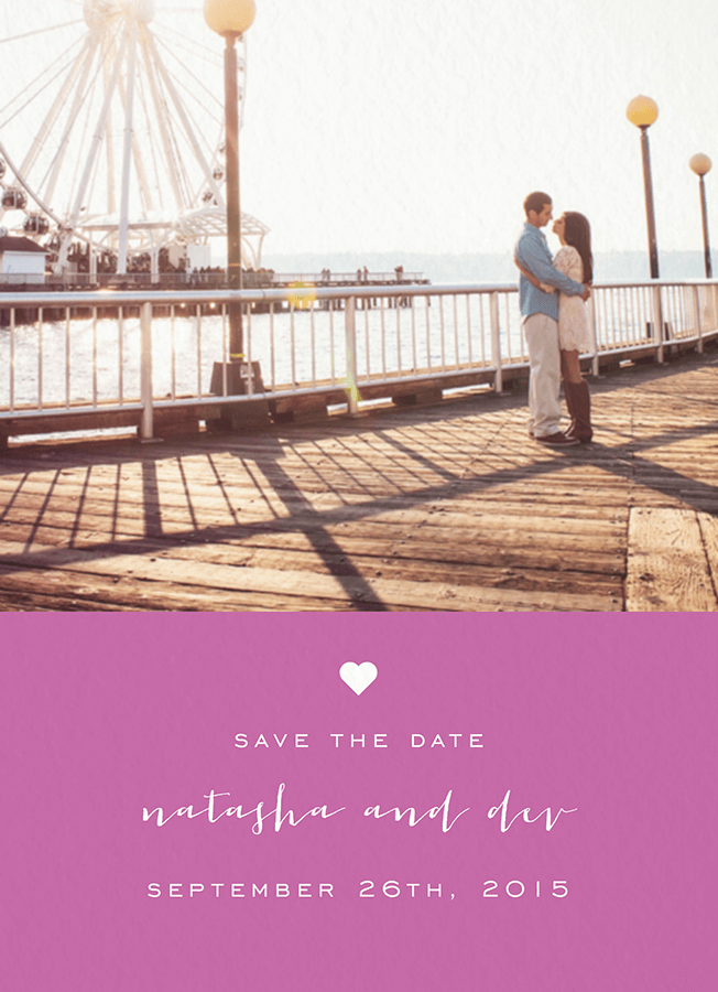 Sweet and Simple Save the Date