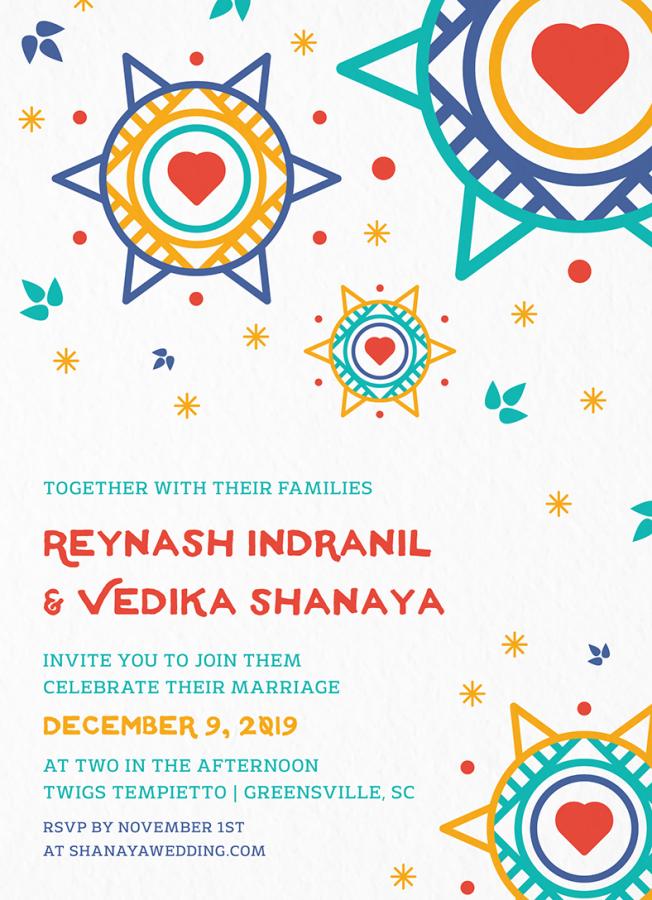 Colorful Pattern Invitation