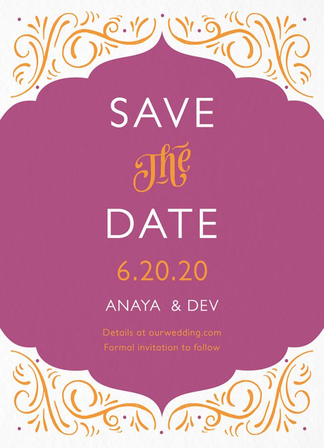 Ornamental Fuchsia Save The Date