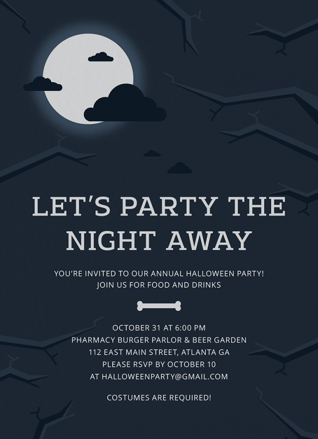 Midnight Halloween Invitation