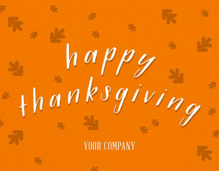 Falling Leaves Thanksgiving