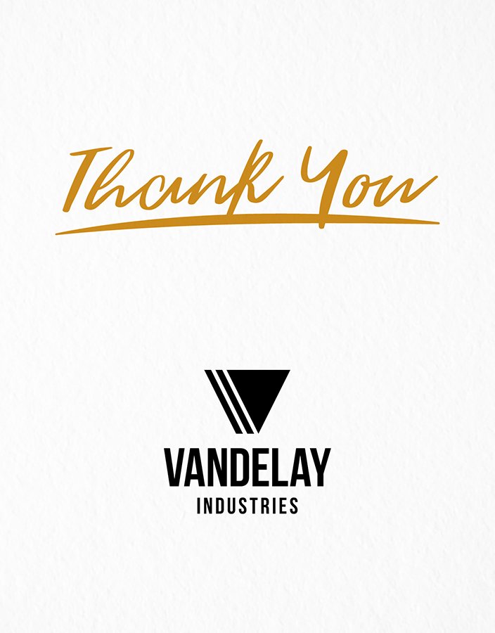 Classic Thank You Logo Card