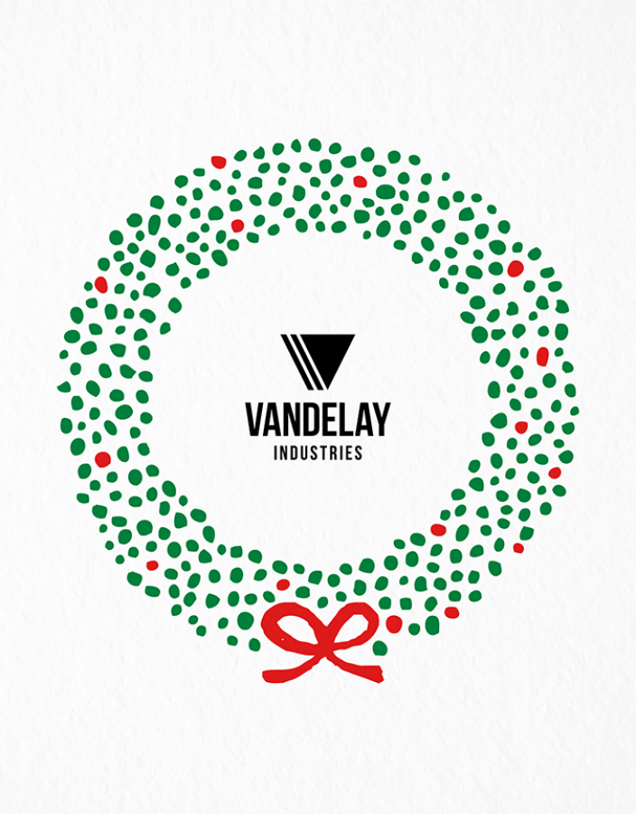 Holiday Wreath Logo Card